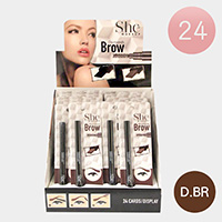 24PCS - Dark Brown Eyebrow Pencils