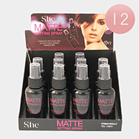 12PCS - Matte Setting Sprays