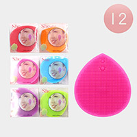 12PCS - Assorted Color Silicone Face Cleansing Brushes