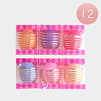 12 Set of 2 - Assorted Color Make Up Blender Sponge and Holder Set