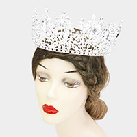 Marquise Teardrop Stone Accented Queen Tiara