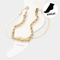 2PCS - Metal Chain Anklets