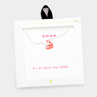 Secret Box _ Metal XO Message Pendant Necklace