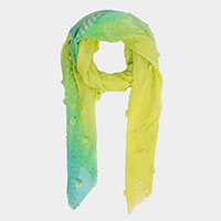 Ombre Stitched Oblong Scarf