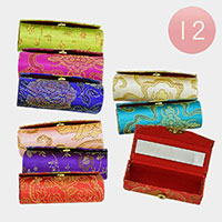 12PCS - Floral Mirror Lipstick Cases