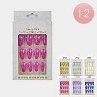 12Pack - Glitter Assorted Press on Nails
