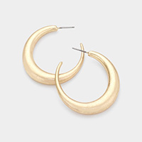 Metal Half Hoop Earrings