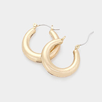 Metal Hoop Pin Catch Earrings