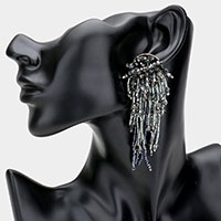 Multi Beaded Drop Fringe Earrings