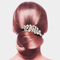 Teardrop Stone Accented Hair Comb