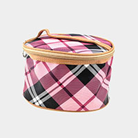 Plaid Check Make Up Pouch Bag