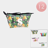 12PCS - SUMMER Pineapple Print Pouch Bags