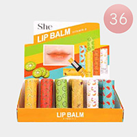 36PCS - Fruits Scent Lip Balms