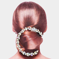 Marquise Stone Sprout Hair Comb