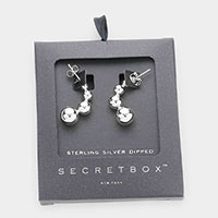 Secret Box _ Sterling Silver Dipped Geometric Metal Ball Earrings
