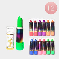 12PCS - Long Lasting Magic Lipsticks