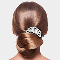Marquise Stone Accented Rhinestone Hair Comb