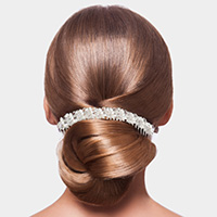 Pearl Detail Clear Beaded Hair Comb